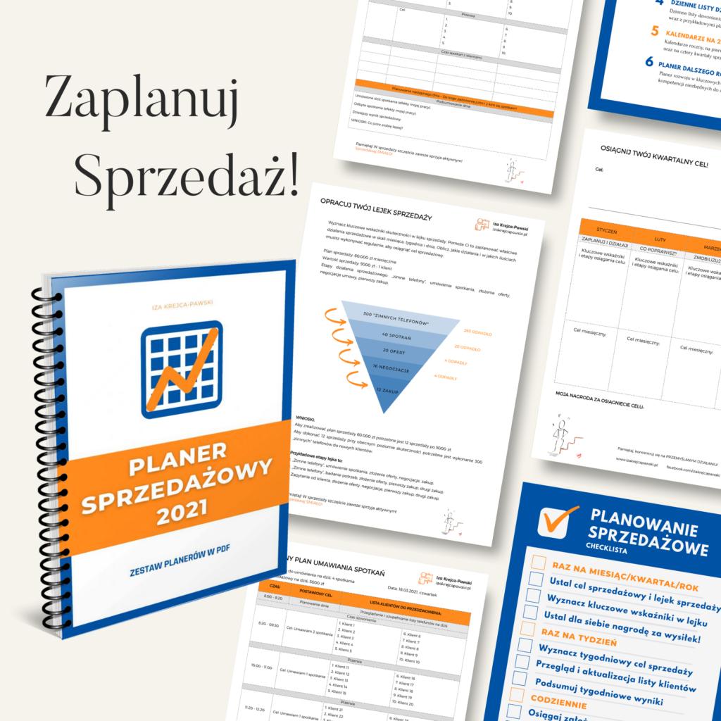 Planer Sprzedażowy 2021 w PDF Planery można drukować lub uzupełniać pliki PDF